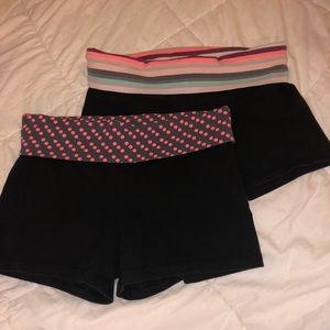 2 pairs of Victoria's Secret Yoga Shorts